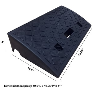 "4"" Polypropylene Plastic Portable Curb Ramps"